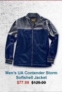 MEN'S UA CONTENDER STORM SOFTSHELL JACKET - $77.99
