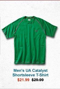 MEN'S UA CATALYST SHORTSLEEVE T-SHIRT - $21.99