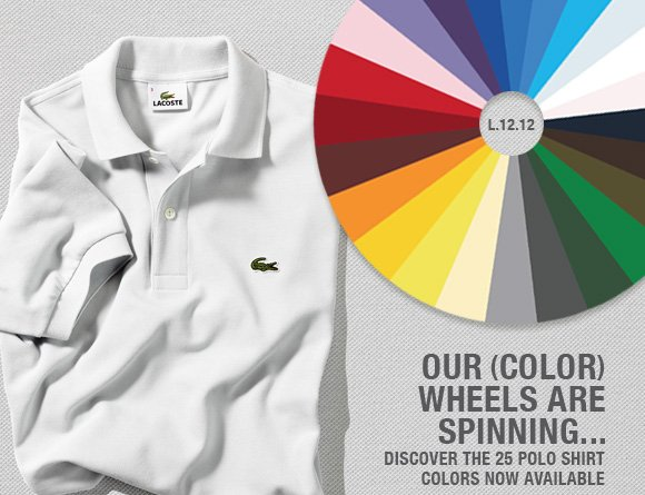 OUR COLOR WHEELS ARE SPINNING...