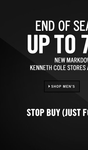 END OF SEASON SALE: UP TO 70% OFF SHOP MEN'S // NEW MARKDOWNS TAKEN