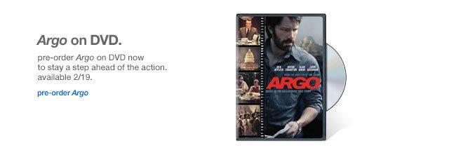 Argo on DVD.