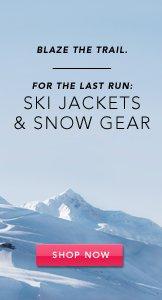 Ski Jackets & Snow Gear. Shop Now.