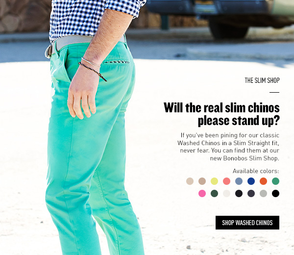Will the real slim chinos please stand up?
