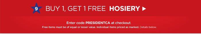 Buy One, Get One Free Hosiery