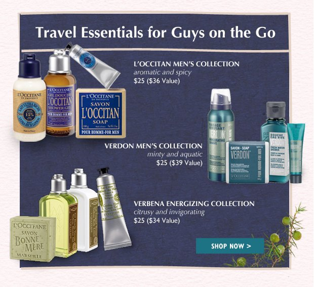 L'Occitane Travel Luxuries  Experience moments of delight while on the go!  FOR HIM