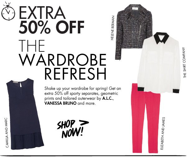 Extra 50% off in the Weekend Shop-In