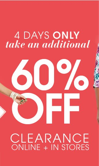 Take An Additional 60% Off Clearance