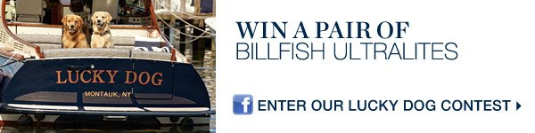 WIN A PAIR OF BILLFISH ULTRALITES