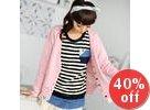 Inset Shirt Stripe Top