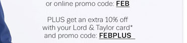 online promo code: FEB