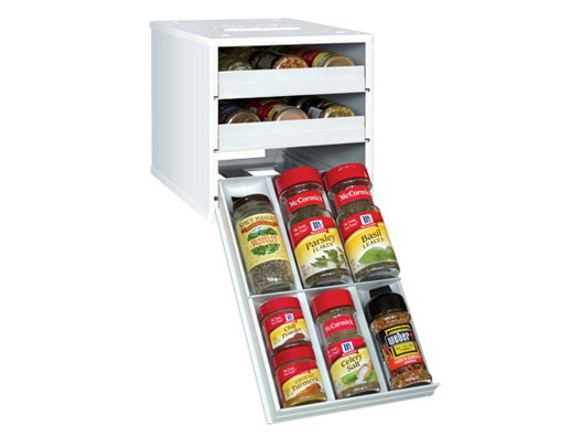 This is the ultimate space-saving spice rack. Even if you have less than a foot of countertop to spare, this organizer will fit right in.