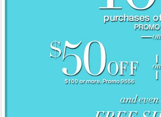 One Day Only! $25 off $50 or $50 off $100 or $100 off $200!