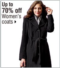 Up to 70% off Women's coats. Shop now.