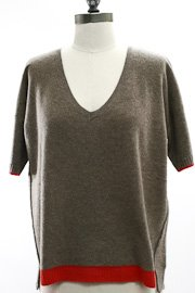 White and Warren Cashmere V neck