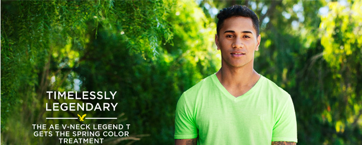 Timelessly Legendary | The AE V-Neck Legend T Gets The Spring Color Treatment