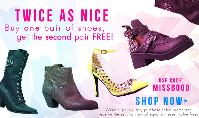 BOGO Shoe Sale! Shop Shoe Sale on Miss KL Today!