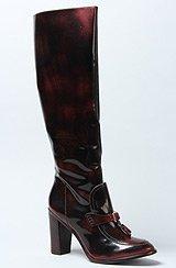 The Jesse Boot in Dark Red Brush Off