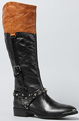 The Park Boot in Black and Saddle
