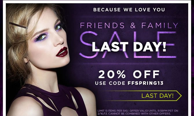 Last Day! Friends & Family Sale - 20% Off - Use Code FFSPRING13 - Last Day!