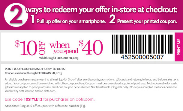 Enjoy this coupon for $10 off your $40 purchase!