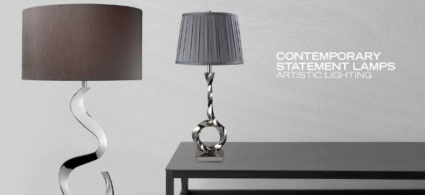 CONTEMPORARY STATEMENT LAMPS: ARTISTIC LIGHTING, Event Ends February 20, 9:00 AM PT >