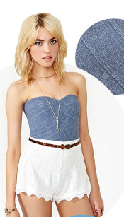 Shop Denim and lace