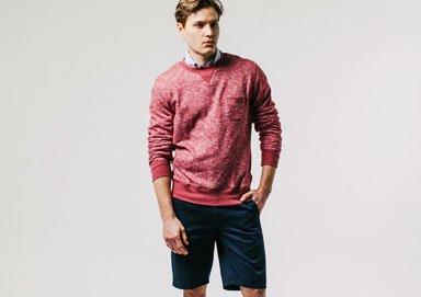 Shop Layer This: Bright Shorts + Fleece