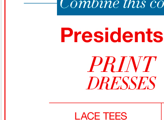 Combine this coupon with our President's Sale! Shop now