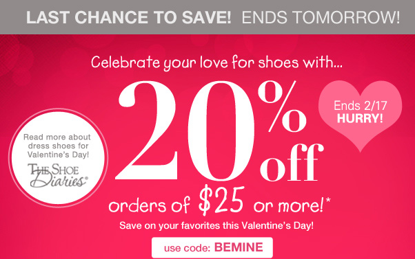 Hurry! 20% Off Ends Tomorrow!