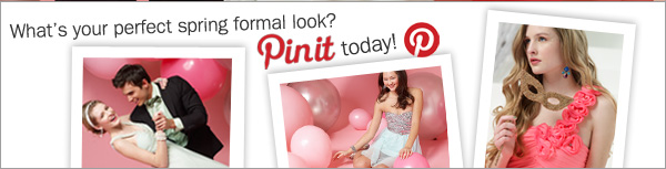 What's your perfect spring formal look? Pin it today! Pinterest.
