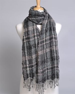 Love Token Double Sided Crinkle Wool Scarf
