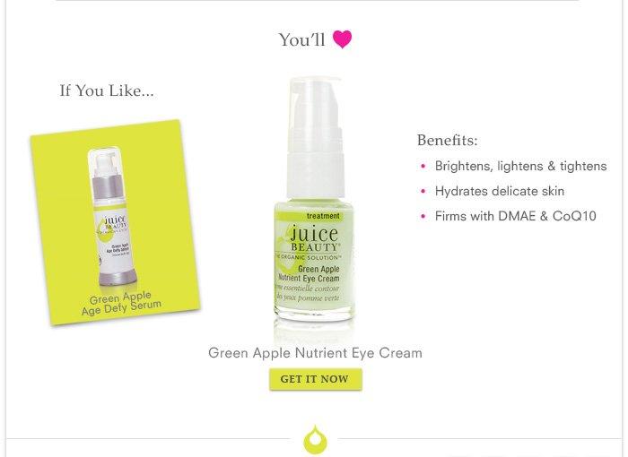 You'll Love, Green Apple Nutrient Eye Cream