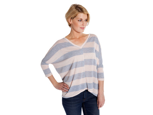This is one of those comfy tops that feels like pajamas, but is stylish enough to wear out and about.