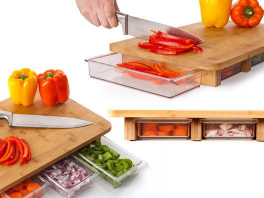 Chopity chop! This cutting board is one of the smartest and sleekest I've ever seen.