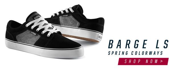 Spring colorways for the etnies Barge LS