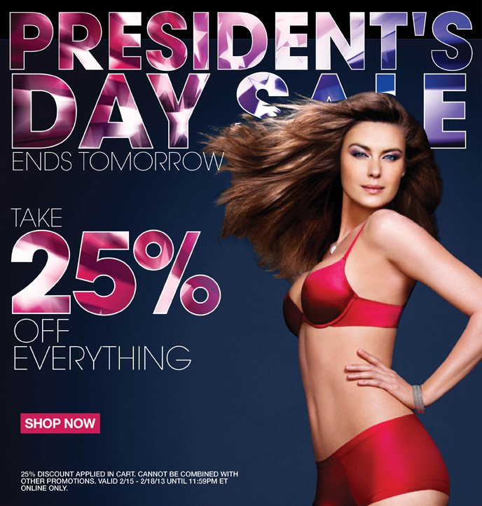 President's Day Sale: Ends Tomorrow Take 25% Off Everything!