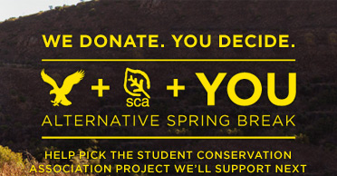 We Donate. You Decide. | AEO + SCA + You | Alternative Spring Break | Help Pick The Student Conservation Association Project We'll Support Next