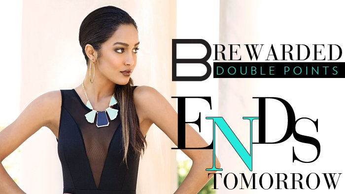 B. Rewarded Double Points Ends Tomorrow