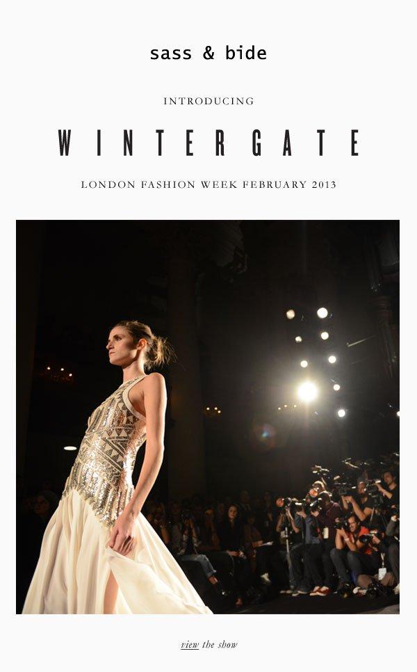 sass & bide | introducing: WINTERGATE London fashion week 2013