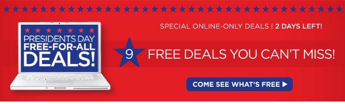 9 Online Only Deals!