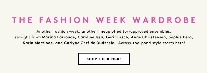 Marina Larroude, Caroline Issa, Geri Hirsch and more stylish editors share their London Fashion Week outfit picks.