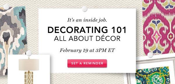 Decorating 101. Set A Reminder.