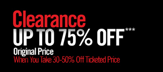 CLEARANCE UP TO 75% OFF***