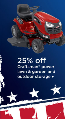 25% off Craftsman(R) power lawn & garden and outdoor storage
