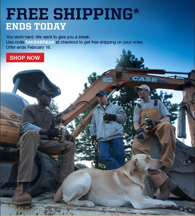 Free Shipping with No Minimum Order Use code TAKEABREAK at checkout for free shipping on your orders. Offer ends February 18 Shop Now