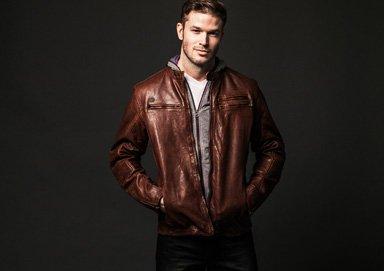 Shop David Bitton Dark & Textured Looks