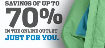 Savings of Up to 70% in the Online Outlet Just For You.