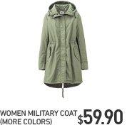 WOMEN MILITARY COAT