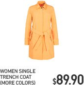 WOMEN SINGLE TRENCH COAT