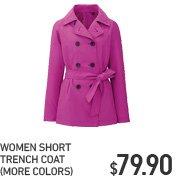 WOMEN SHORT TRENCH COAT